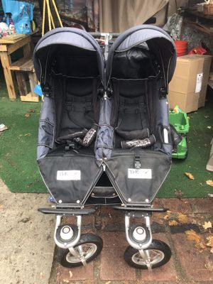 Navy Blue Double Jogger Stroller for Sale in Brooklyn, NY