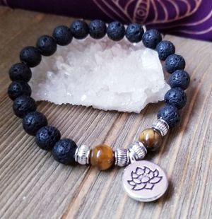 Stone braclet with lotus flower charm for Sale in Colorado Springs, CO