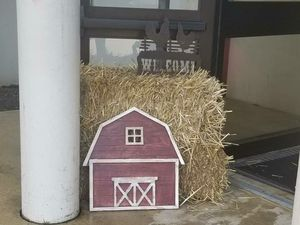 Barn shaped wood sign for Sale in Arlington, VA