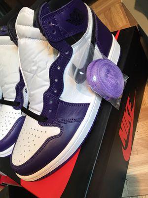 Jordan 1 Court purple size 8.5 for Sale in Bridgeton, MO
