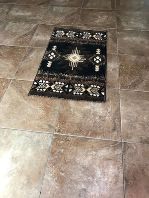 Black color door mat size area rug brand new native design for Sale in Salem, OR
