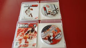 2 NBA Games 2K8 and 2K11 For PlayStation 3 PS3 Basketball Game with cases. Great condition. Like new for Sale in Long Beach, CA