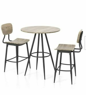 3-Piece Gray and Bronze Dining Set for Sale in Chino, CA