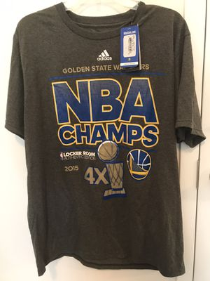 Adidas mens t shirt warriors championship brand new for Sale in Pompano Beach, FL