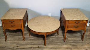 Real Marble Coffe Table Set for Sale in El Mirage, AZ