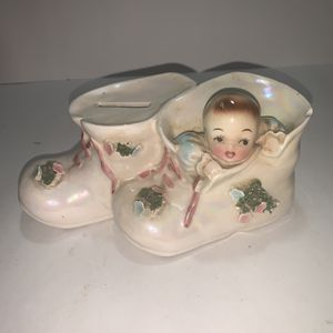 "Vintage Ceramic Baby Shoe Bank 7"" for Sale in Freehold, NJ"