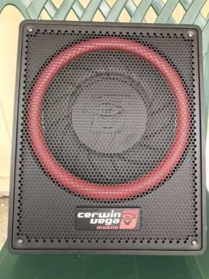 "CERWIN VEGA 12"" 600watt self powered subwoofer enclosure with bass control knob for Sale in Wells, ME"