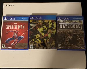 Persona 5 Royal, Days Gone and Spider man PS4 for Sale in Randolph, MA