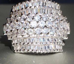 Princess cut 18 CT white Zircon sliver color Ring. Size 7 for Sale in West Springfield, VA