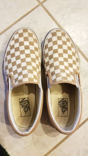 Van's pale/brown color size 7 for Sale in Corona, CA