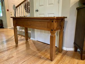 Rustic Mexican Pine Console Stand Table for Sale in Redmond, WA