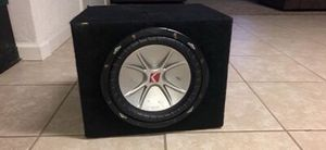 10 inch kicker comp subwoofer and 500 watt kenwood amp for Sale in Stockton, CA