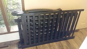 Black baby crib for Sale in SKOK, WA