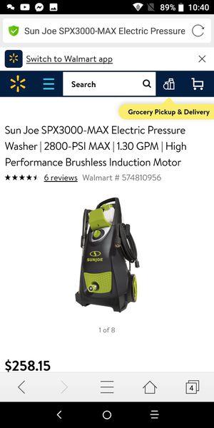 SunJoe Spx3000Max Power Washer for Sale in Owensboro, KY