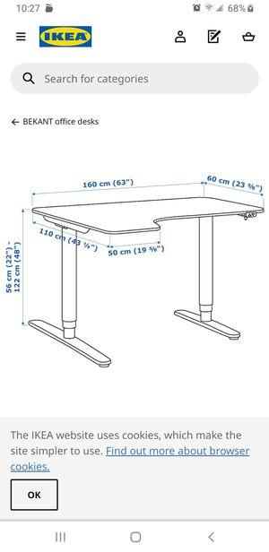 IKEA Conner standing desk-Like NEW for Sale in Rockville, MD