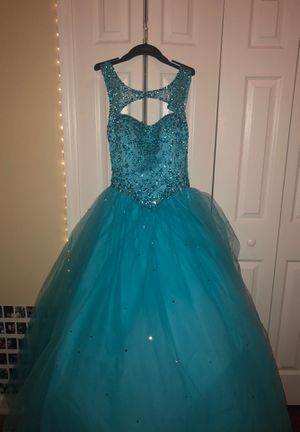 Bedazzled Blue Quinceanera Dress Size 6 for Sale in Orlando, FL