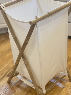 Bamboo And Linen Laundry Basket for Sale in Washougal,  WA