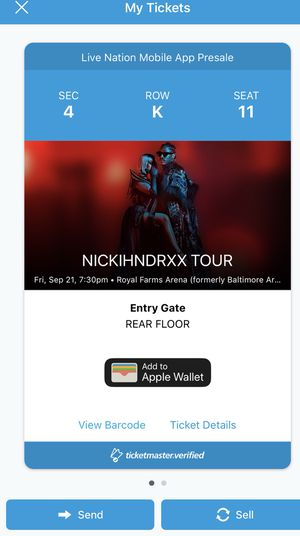 NICKIHNDRXX TOUR BALTIMORE SEPT 21st... for Sale in Baltimore, MD