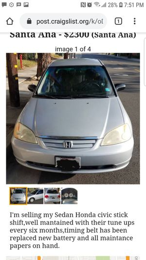 Honda Civic 2002 Clean title for Sale in Santa Ana, CA