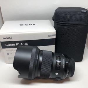 Sigma Art 50mm f/1.4 for Nikon for Sale in Philadelphia, PA