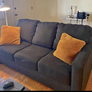 Gray Couch Sofa W Queen Bed for Sale in Seaside, CA