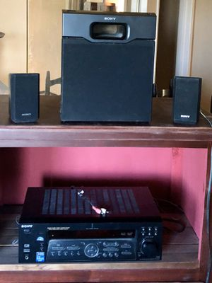 Sony stereo/surround digital cinema sound package with two speakers and subwoofer for Sale in Bakersfield, CA