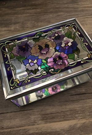 Stained Glass and Mirror Antique Box for Sale in San Diego, CA