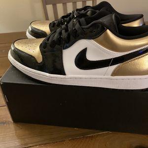 Jordan 1 Low Top Black And gold for Sale in Live Oak, FL