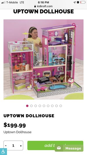 Kids Craft Doll house complete with accessories for Sale in Everett, WA