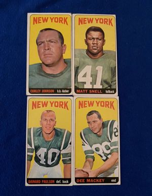 AFL New York Jets Vintage Football Trading Cards (4) for Sale in San Antonio, TX