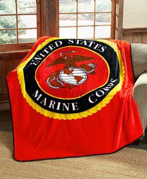 "Jumbo 60"" x 80"" Plush Marine Throw Blanket for Sale in Palmdale, CA"