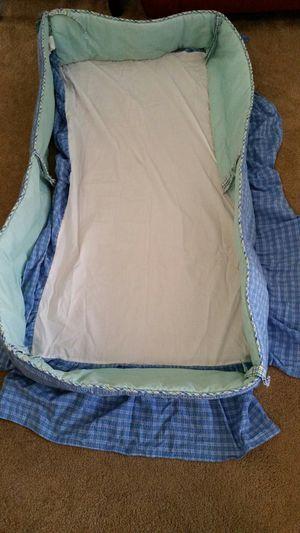 Baby boy's crib bumper and crib skirt for Sale in Murrieta, CA