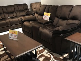 MODERN COMFY BARCELONA RECLINING SOFA, LOVESEAT AND CHAIR. SAME DAY DELIVERY! NO CREDIT CHECK FINANCING $49 DOWN! for Sale in St. Petersburg,  FL