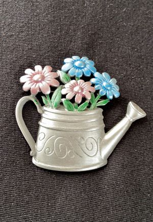 Vintage Signed JJ Artifacts Watering Can Brooch for Sale in Williamsport, PA