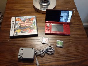 Nintendo 3ds Flame red Game system bundle w 3games for Sale in Dallas, TX