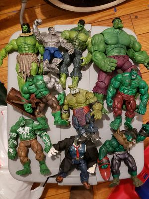Storm collectibles street fighter marvel legends hulk action figures for Sale in South Gate, CA