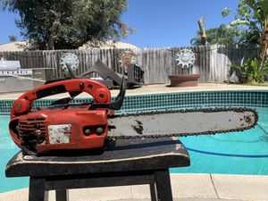 Strong Running Shindaiwa gasoline powered chainsaw cuts like a beast. Good to go now for Sale in Upland, CA