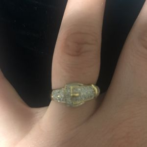Diamond and Gold Buckle Ring for Sale in Las Vegas, NV