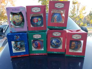 The Disney Store Glass Ornaments From 1997 for Sale in Anaheim, CA