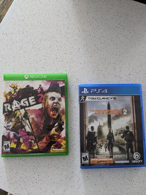Rage 2 and The Division 2 for Sale in Chula Vista, CA