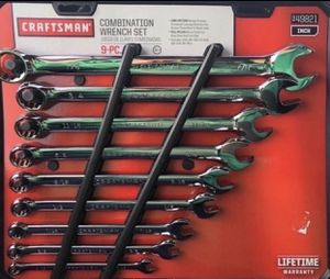 Craftsman 9 piece combination wrench set inch(new)) for Sale in Philadelphia, PA