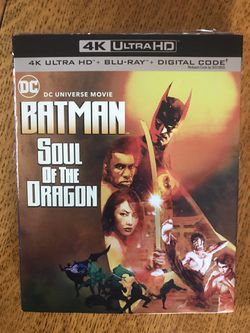 Batman soul of the Dragon 4k ultra. Blu-ray Disney Marvel DC Harry Potter the Star Wars movies 3D Bluray and dvd collectors !!stay safe everybody!! for Sale in Everett,  WA