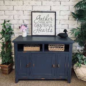 Farmhouse entry table -media console - coffee bar -storage cabinet for Sale in Peoria, AZ