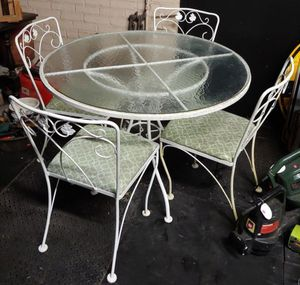 Antique Wrought Iron Table & 4 Chairs for Sale in Burlington, NC
