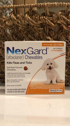 Nexgard 4-10lbs (6 doses) for Sale in Acworth, GA