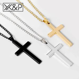 Cross Long Silver, Black, Gold Chains Necklaces for Women Men Christian Stainless Steel for Sale in Silver Spring, MD