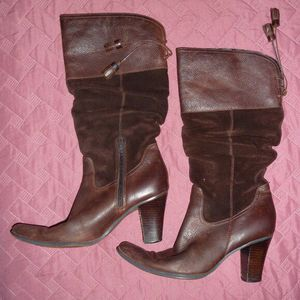 a.n.a. Brown Heeled Leather Boots, 7.5 M for Sale in Northumberland, PA