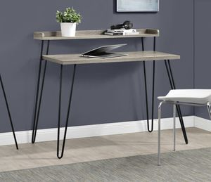 Ameriwood Home Haven Retro Desk with Riser, Weathered Oak for Sale in Columbus, OH