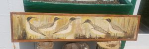 Vintage, wood carved and painted bird picture for Sale in Zion Crossroads, VA