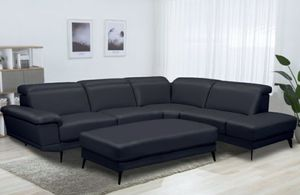 NEW RIO SECTIONAL SOFA WITH OTTOMAN. BLACK OR WHITE. ONLY $1099. NO CREDIT CHECK OR ONE YEAR DEFERRED INTEREST FINANCING AVAILABLE for Sale in Lakeland, FL